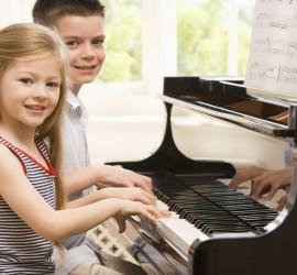 Enjoying piano together