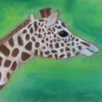 Annie's Giraffe pastel 2015