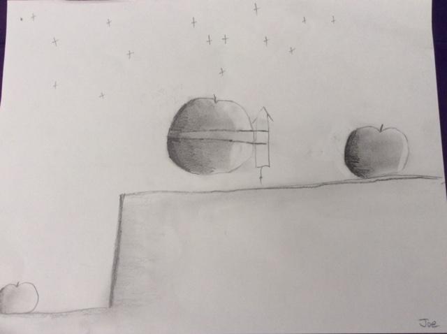 Joe's Rocket apple sketch 2015