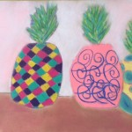 Chalk pastel pineapples 2015