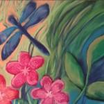 chalk pastel dragonfly 2015