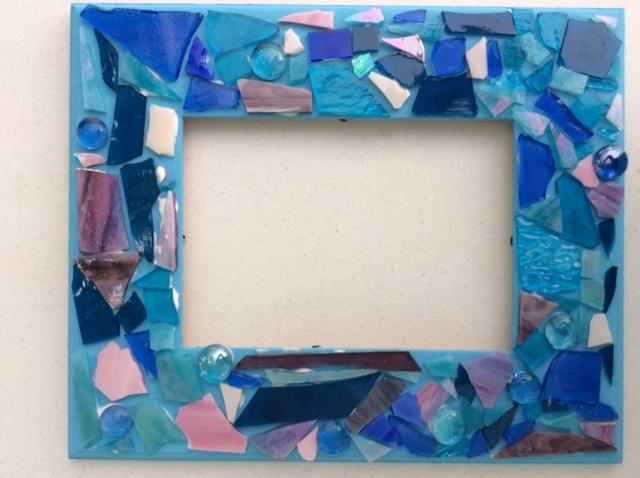 mosaic frame pre-grout 2015