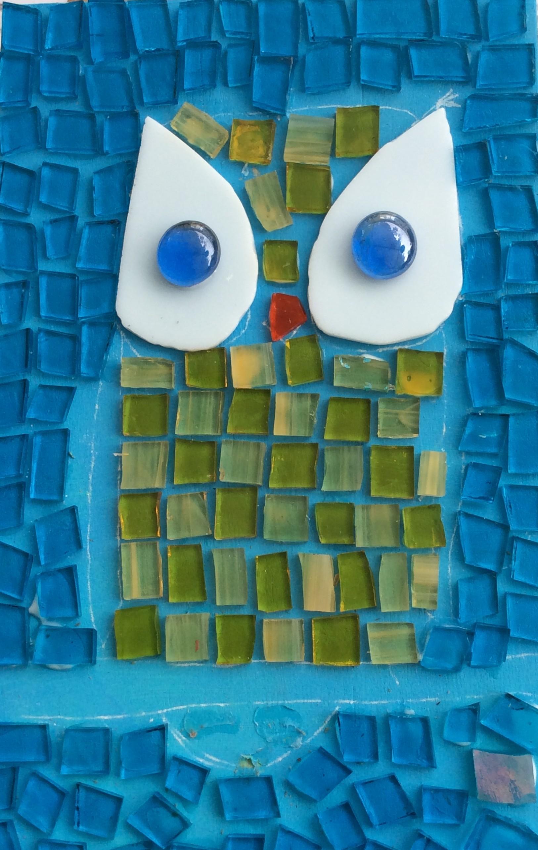 Each artist designed their own mosaic.