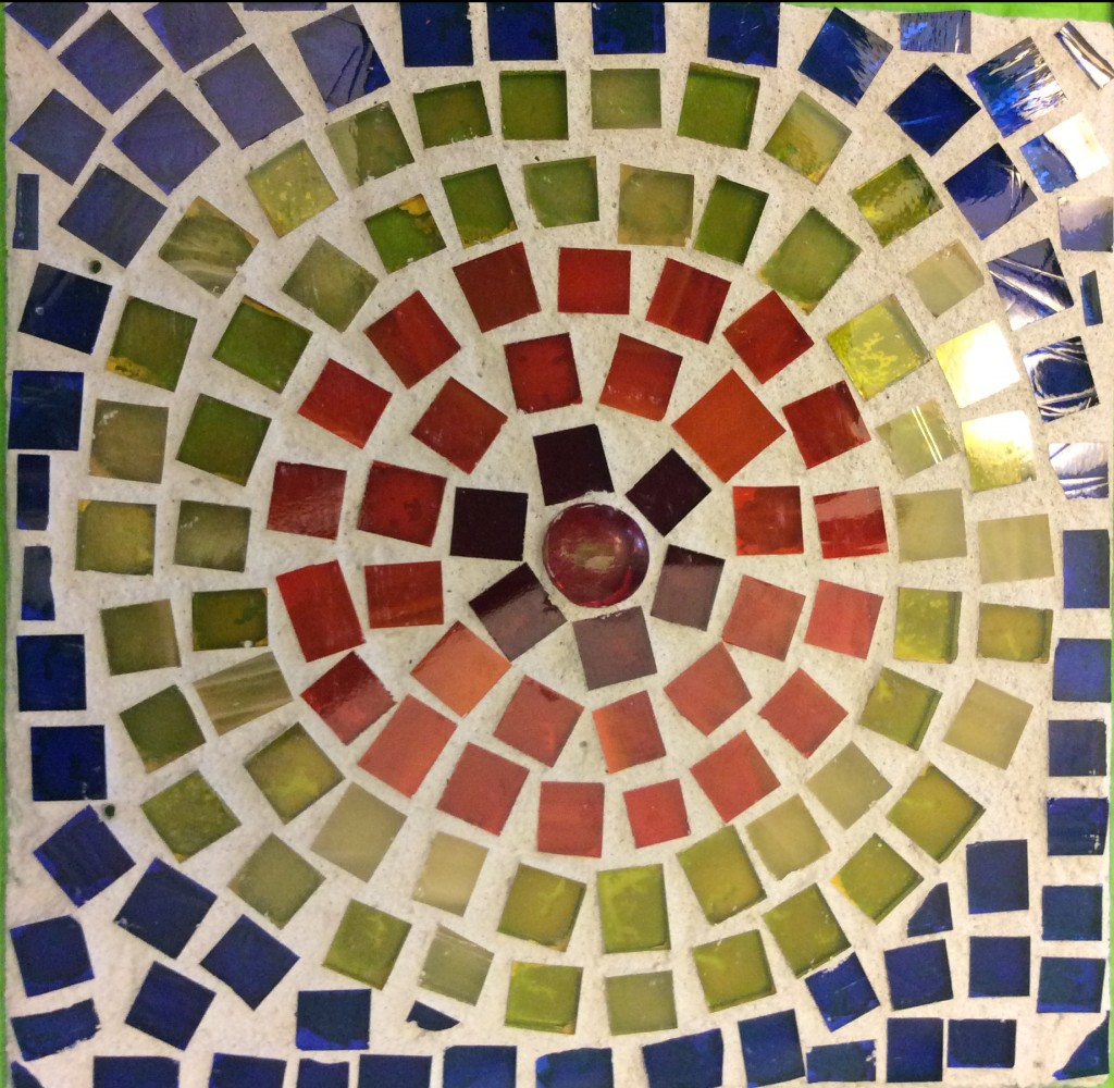 Glass mosaic suncatchers